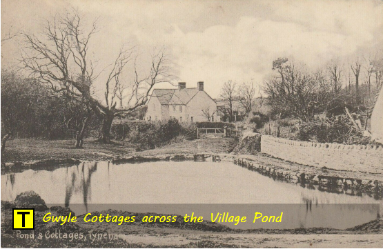 Gwyle Cottages Tyneham across the village pond