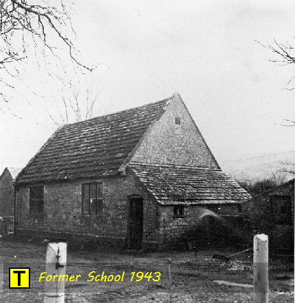 Tyneham School pictured in 1943 when the village was evacuated
