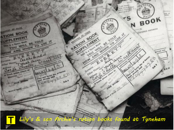WW2 ration books of Lily Everett and son Archie were found at Tyneham in 1975
