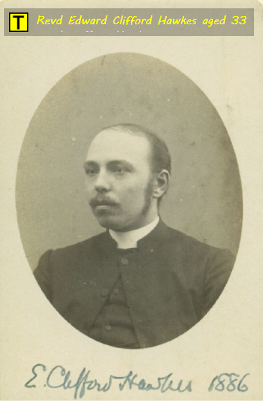 reverend edward clifford hawkes aged 33 later became rector of tyneham dorset in 1914