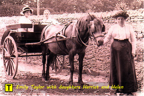 Emily Taylor with daughters Harriet and Helen circa 1907