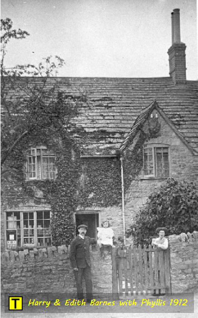 Harry and Edith Barnes with daughter Phyllis at Tyneham
