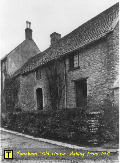 Tyneham 'Old House' dating from 14th Century