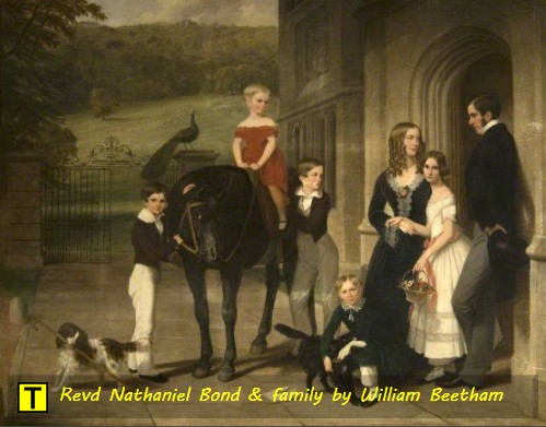Reverend Nathaniel Bond (1804-1889) & family by William Beetham